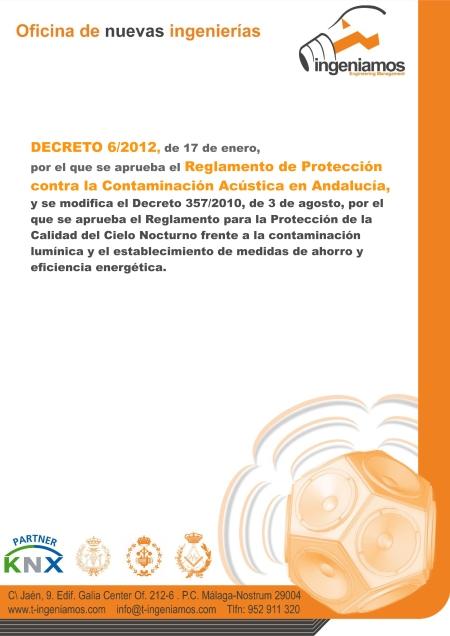 Reglamento Protección frente contaminación acústica en andalucía